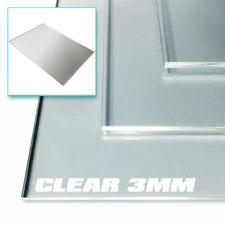 Perspex acrilico foglio 3mm chiaro-dimensioni A3, A4 e A5 Plastica Pannelli