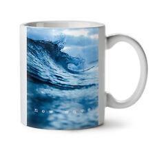 Nouvelle vague mer ocean nature Nouveau Thé Blanc Tasse de Café 11 OZ (environ 311.84 g)   wellcoda