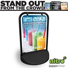Ice Slush Drinks Swinging Pavement Sign Outdoor Shop A-Board Advertising STREET