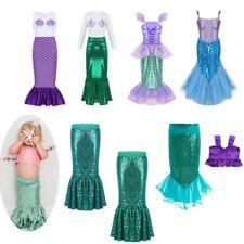 Child Girls Mermaid Fairytale Princess Fancy Dress Kids Halloween Costume Outfit