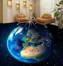 3D Bel Terre Fond d'écran étage Peint en Autocollant Murale Plafond Chambre Art