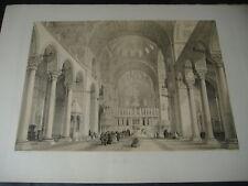 1843 GEORGE B.MOORE BASILICA DI SAN MARCO VENEZIA H.GALLY KNIGHT