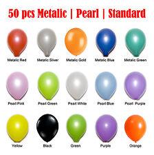 50pcs Latex Balloons Helium/Air Metallic|Pearl|Standard Wedding Party Decoration