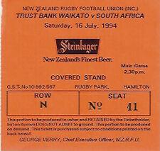 WAIKATO v SOUTH AFRICA 1994 RUGBY TICKET 16 Jul at HAMILTON