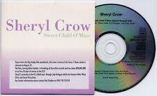 SHERYL CROW Sweet Child O' Mine UK 1-trk promo CD MINT Guns N' Roses