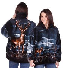 Bear Ridge Outfitters Buck Whitetail Deer Ultra Plush Fleece Jacket Xs - 2x