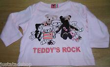 No added sugar baby girl top t-shirt  3-6 m BN New designer teddy pink