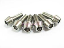 M10 x 25mm 1.25 Pitch Titanium Ti Bolt Taper Hex Allen Socket Head Screw GR5