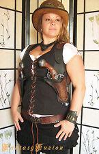 Steampunk Victorian Industrial Flintlock Gun Double Shoulder Leather Holsters