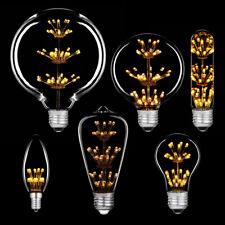 LED Rustika Carbon Kerzen Röhren Edison Globe E27 & E14 extra warmweiß Design