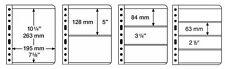 LEUCHTTURM BANKNOTEN HÜLLEN VARIO 1C, 2C, 3C, 4C - 5 Stück