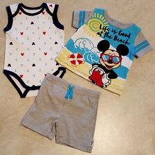 Boys Newborn, Infant 3 Piece Mickey, Ninja Turtle Outfit-0-3M--3-6M--6-9M