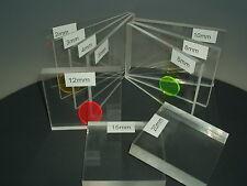 PLEXIGLAS ® Zuschnitt Platte Acrylglas Glasklar  bis 20mm TOP Scheibe Kleintiere