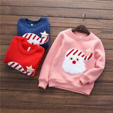 kids christmas santa sweatshirt jumper 3-7 years *UK SELLER*