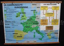 B653 RARE AFFICHE SCOLAIRE MDI EUROPE CEE INSTITUTION