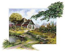 Reint Withaar: Charming farmhouse Keilrahmen-Bild Leinwand Bauernhaus ländlich