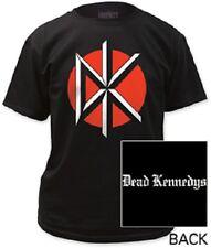 DEAD KENNEDYS BLACK JUMBO LOGO W/ BACK PRINT JELLO BIAFRA MUSIC BAND T SHIRT