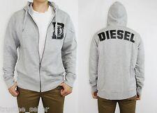 DIESEL Fashion Mens Logo Grey Vintage SHATIORA - RS Sweat Shirt Hoodie Jacket