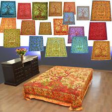 Batik Tages-decke LEBENSBAUM Bettüberwurf TREE OF LIFE Wandbehang Indien Tuch **
