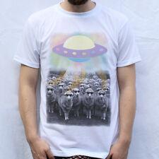 Cool Sheep Abduction T Shirt Design