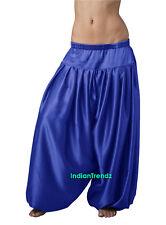 Royal Blue Satin Harem Pant Belly Dance Pantaloons Bombachos Aladdin Halloween