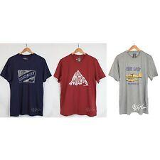 NWT Men Eddie Bauer 100% Cotton Front Graphic Crew Neck T-Shirt Tee size M-2XL