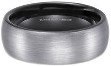 NUOVO in scatola 8mm spazzolato Tungsteno wedding Engagement Ring con interno nero