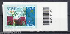 ITALIA 2012, GIULIO ONESTI , CODICE A BARRE 1455, MNH ** A70 LEGGI LA PROMOZIONE