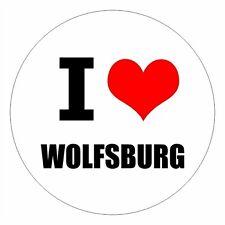 I love Wolfsburg - csd0412 Autoaufkleber Sticker Aufkleber KFZ Flagge