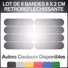 8 Bandes adhésives réfléchissantes pour signalisation sur casque 8x2 cm