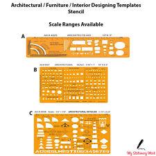 Architectural Template Stencil Bathroom Kitchen Furniture Layout Architect Scale