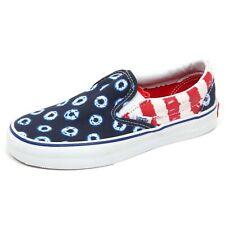 D5226 sneaker bimbo blu/rosso VANS slip on shoe kid unisex
