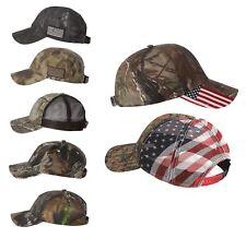 USA CAMO Hunting Caps, Mesh, Baseball Hat, Trucker Realtree, Mossy Oak, US Flag