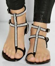 Sandals Roman Simple Flats Summer shoes womens flip flops shoes black t-strap