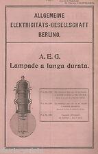 ELETTRICITA'_LAMPADE_AEG_BERLINO_GANZ_ILLUMINAZIONE ELETTRICA_ANTICA PUBBLICITA'