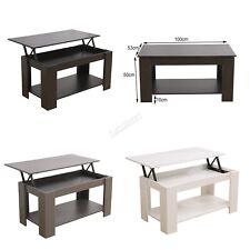 WestWood Coffee Table Lift Up Top Desk Hidden Storage & Shelf Living Room Office