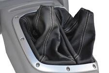 Blancos de doble Stitch encaja Mitsubishi L200 Guerrero 2006-2010 Gear Hi-Low + Polaina