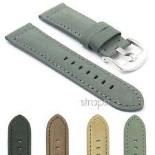 DASSARI Heritage Soft Vintage Italian Leather Mens Watch Band Strap for Panerai