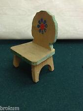 Dollhouse Miniature Wood Farmer Chair PrimitiveAntique Kitchen Furniture~Germany