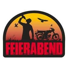 Aufkleber Wetterfest 2Takt Motorrad Moped Feierabend Enduro Cross Bier Geschenk