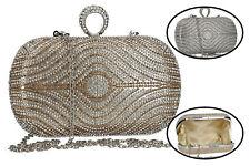 Handtasche Clutch Zeremoniell Passion De Femme - Klein Damentaschen mit Strass