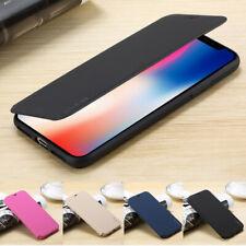 Ultra-mince Coque Flip Portefeuille Anti-choc Etui de Protection pour iPhone