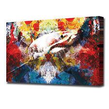 1539 Abstract Great White Shark Canvas Modern Wall Art Print