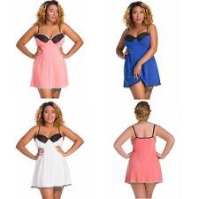 Classic Mesh Panels Blue Peach Ivory Babydoll Plus Size Sleepwear 8-26 Ladies