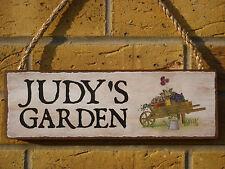 GIARDINO PERSONALIZZATO SEGNALE CARTELLO giardinieri fabbricati su ordinazione regali per il giardino segni