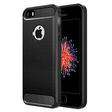 Apple iPhone 5 SE Handyhülle Carbon Silikon Schutz Handy Cover Hülle Tasche Case