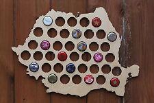 Romania Beer Cap Map Bottle Cap Map Collection Gift Art