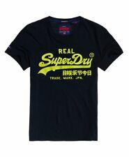 T shirt manches courtes superdry homme vintage logo neon lite bleu