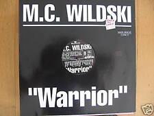 "M.C.WILDSKI - WARRIOR DISCO-TEK ORIGINAL 12"" MAXI SINGLE (M111)"
