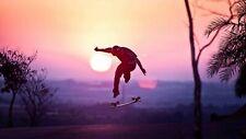 154580 Double skateboard Skateboarding Art Wall Print Poster CA